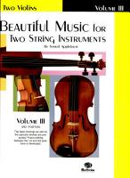 Beautiful Music for Two String Instruments  Bk 3  2 Violins PDF