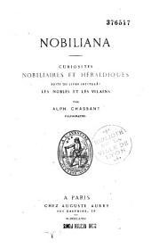 Nobiliana: curiosités nobiliaires et héraldiques