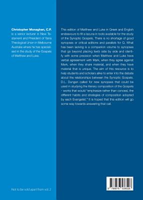 A Source critical Edition of the Gospels of Matthew and Luke in Greek and English PDF