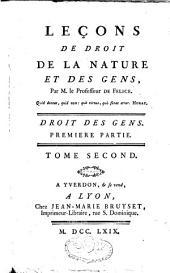 Leçons de droit de la nature et des gens: Volume1