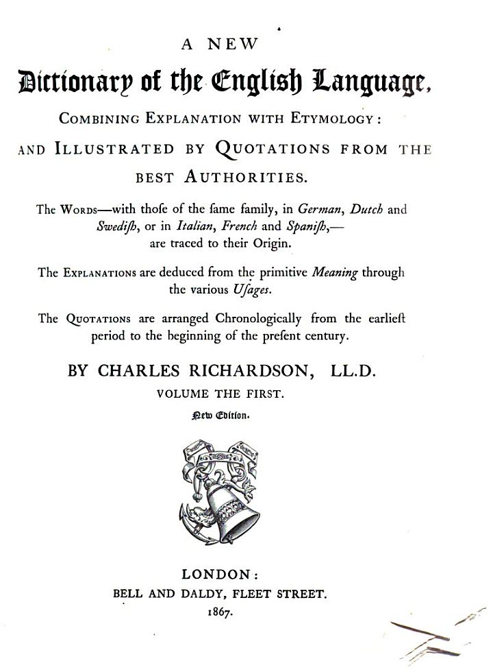 A New Dictionary of the English Language