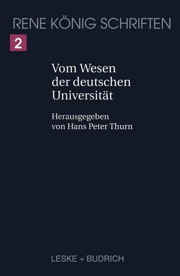 Vom Wesen der deutschen Universit  t PDF