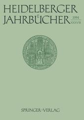Heidelberger Jahrbücher: Band 38