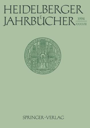 Heidelberger Jahrb  cher PDF