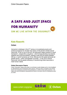 A Safe and Just Space for Humanity  Can we live within the doughnut