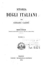 Storia degli italiani: Volume 1