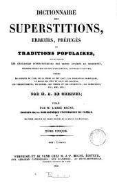 Dictionnaire des superstitions, erreurs, préjugés et traditions populaires