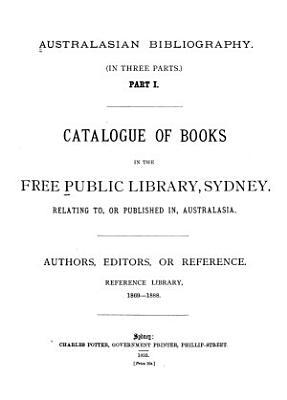 Australasian Bibliography  in Three Parts  PDF