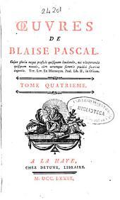 Oeuvres de Blaise Pascal: Volume4