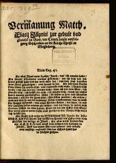 Vermanung Matth. Flacii Illyrici zur gedult und glaube[n] zu Gott, im Creutz dieser verfolgung Geschrieben an die Kirche Christi zu Magdeburg