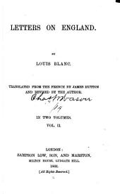 Letters on England: Volume 2