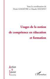 Usage de la notion de compétence en éducation et formation