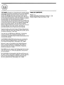 Federal Register Index PDF