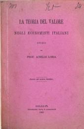 La teoria del valore negli economisti italiani