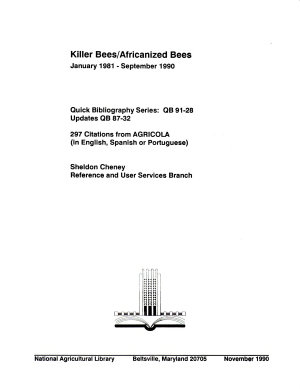 Killer Bees Africanized Bees PDF