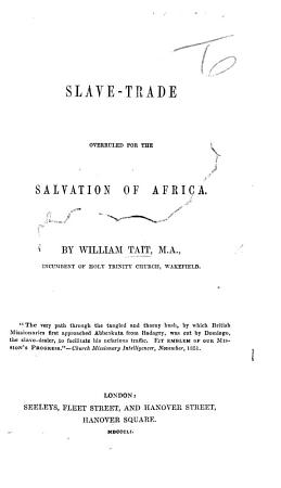 Slave Trade overruled for the salvation of Africa PDF