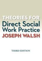 Theories for Direct Social Work Practice PDF