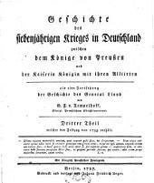 Geschichte des siebenjährigen Krieges in Deutschland: Band 3