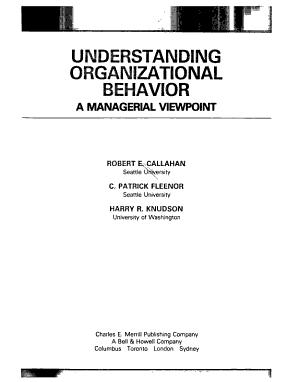 Understanding Organizational Behavior PDF