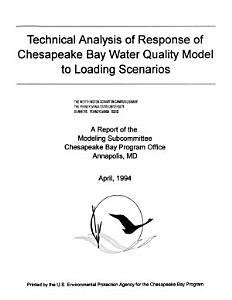 Technical Analysis of Response of Chesapeake Bay Water Quality Model to Loading Scenarios PDF