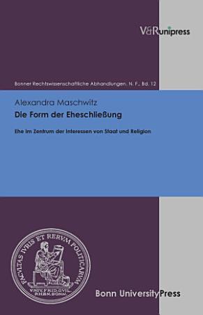 Die Form der Eheschlie  ung PDF
