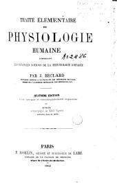 Traité élémentaire de physiologie humaine comprenant les principales notions de la physiologie comparée