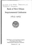 Battle of New Orleans Sesquicentennial Celebration 1815 1965 PDF