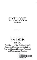 Final Four Records 1939 1992 Book PDF