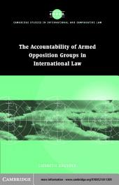 Accountability of Armed Opposition Groups in International Law