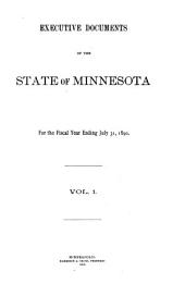 Executive Documents of the State of Minnesota for the Year ...