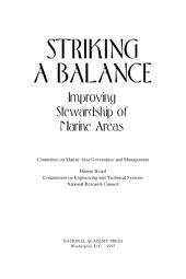 Striking a Balance: Improving Stewardship of Marine Areas