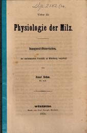 Ueber die Physiologie der Milz