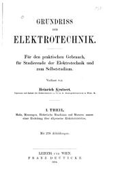Grundriss der elektrotechnik
