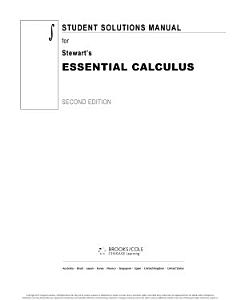 Student Solutions Manual for Stewart s Essential Calculus  2nd Book