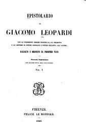 Epistolario di Giacomo Leopardi: Volume 1