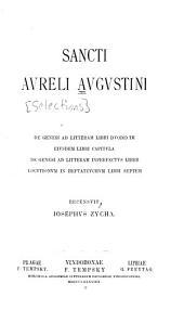 Sancti Aureli Augustini De Genesi ad litteram libri duodecim: eivsdem libri capitvla