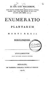 Enumeratio plantarum Horti regii berolinensis: post mortem autores editum. Supplementum