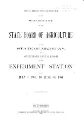 Report of the Secretary: Volume 43