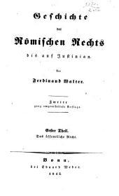 Geschichte des römischen rechts bis auf Justinian: th. Das öffentliche recht