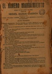 El noveno mandamiento: comedia en tres actos y en prosa