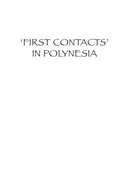 First Contacts in Polynesia   the Samoan Case  1722 1848