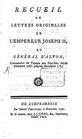 Recueil de lettres originales de l'empereur Joseph II
