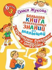Большая книга необходимых знаний для малышей. С крупными буквами и цифрами