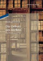 Die Geburt des Archivs PDF