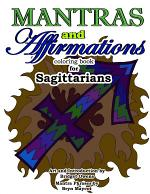 Mantras and Affirmations Coloring Book for Sagittarians