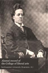 Alumni record of the College of liberal arts: 1903