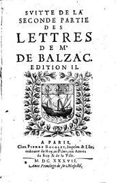 Lettres Choisies: Svitte De La Seconde Partie Des Lettres De Mr. De Balzac, Volume3