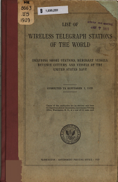 Wireless Telegraph Stations of the World