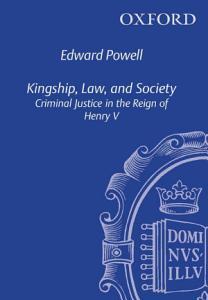 Kingship  Law  and Society PDF