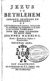 Predikatien op de zondagen: beginnende met den derden zondag na HH. Driekoningen, en eindigende op den eersten zondag voor den vasten, Volume 9